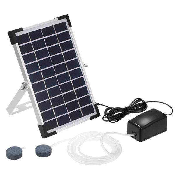 Solar Oxygen Pump Fish Tank Oxygenator Aquarium Oxygen Aerator Pond Aerator Air Pump Fishing Aerator Aquarium Airpump with Aquarium Oxygen Pipe Air Bubble Stone