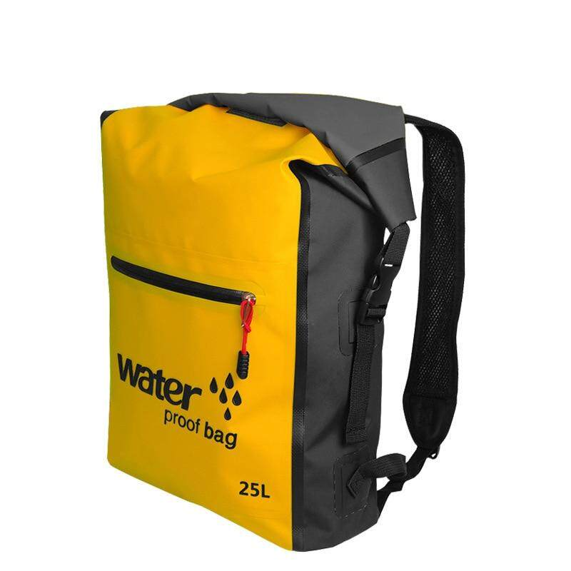 e062e2101c  25L Double Strap Thicker Ocean Back Pack Waterproof Shoulder Ocean Dry Bag  Rafting Sports