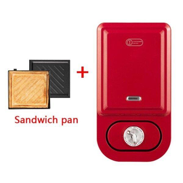 Máy Máy Làm Bánh Tổ Ong Đồ Ăn Sáng Đa Năng Cho Gia Đình, Bánh Mì Sandwich Nướng Bánh Mì Chảo Nướng Tự Động, Thịt Giăm Bông 220V