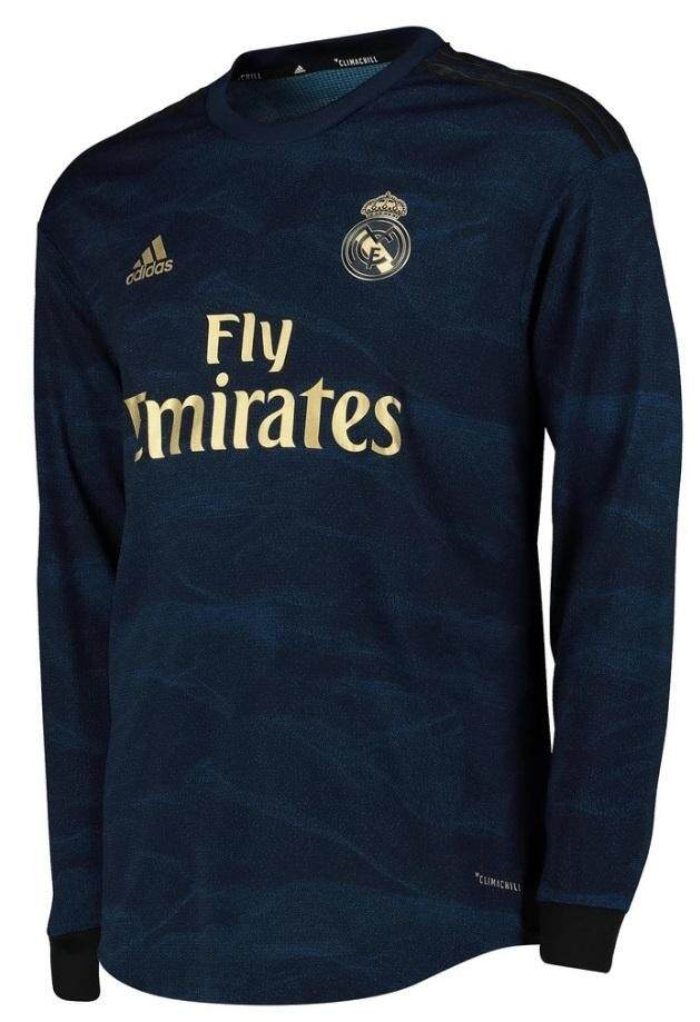 huge selection of c495b 3a696 New Real_Madrid Away Kit Long Sleeve Soccer Shirt Jersey Football Jersey  For Men 2019/2020