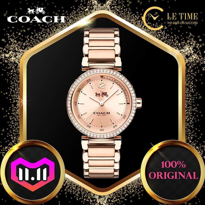 [Authentic] Coach Womens 1941 Sport 30mm Bracelet Rose Gold Fashion Women Lady Watch Jam Tangan Wanita 14502200 Jam Tangan Wanita Malaysia