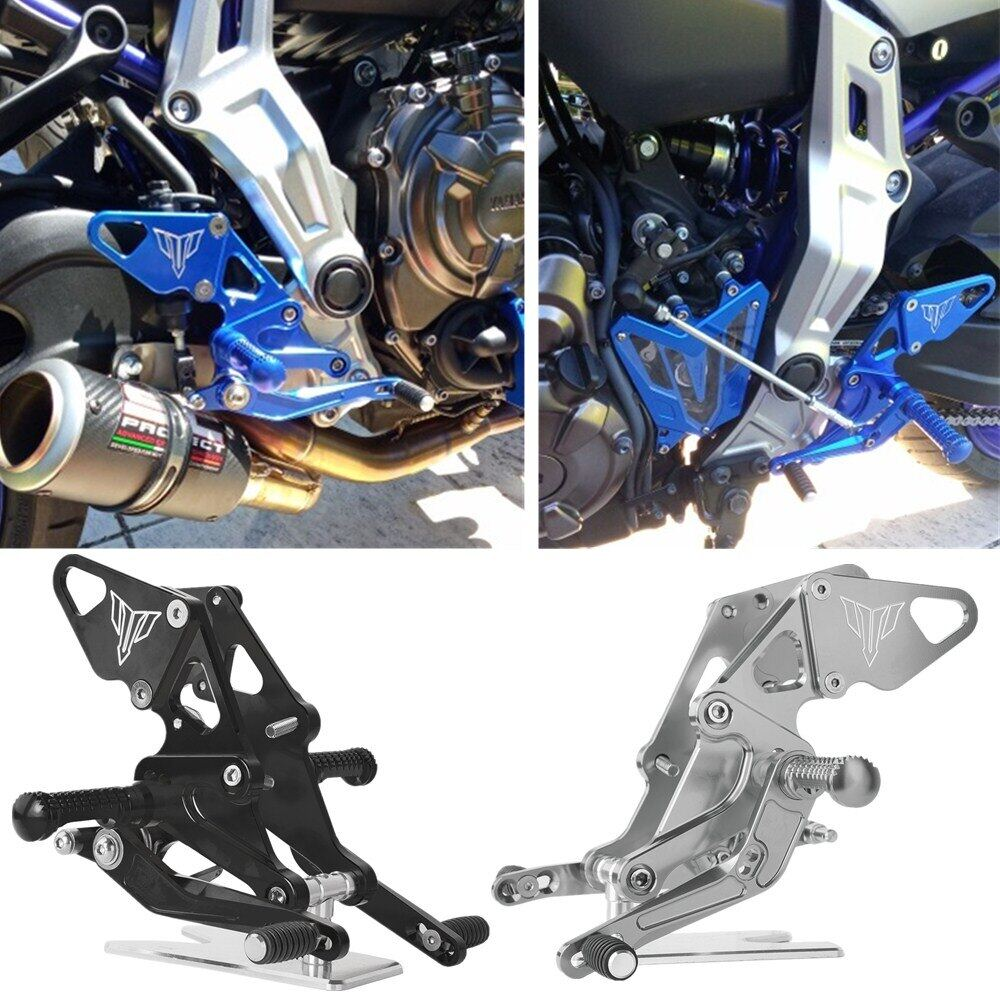 FZ 07 Rearsets Adjustable Rear sets Footpegs for Yamaha FZ07 FZ-07 2014 2015 2016 2017