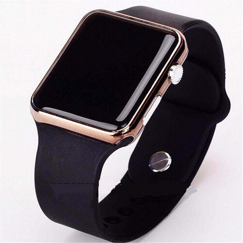 Efashion Mall Wrist Watch Digital Watch Simple Electronic Leather Band Clock Gifts Malaysia