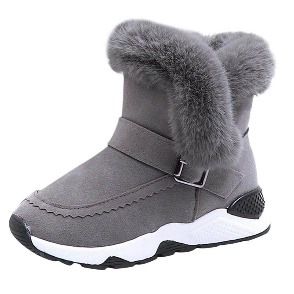 CNB2C Kids Shoes Kids Baby Infant Boys Girls Child Fur Flock Winter Bootie  Warm Snow Shoes e01147f6f055