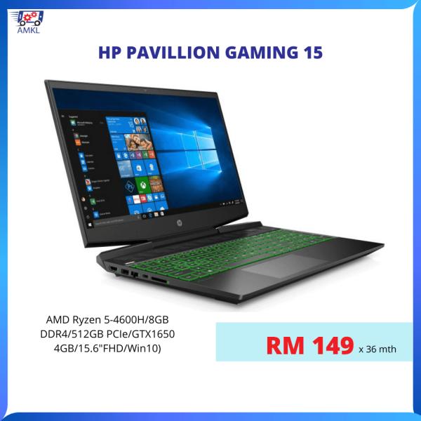 Ansuran Mudah KL-HP Pavillion Gaming 15 (RM149/bln) Malaysia