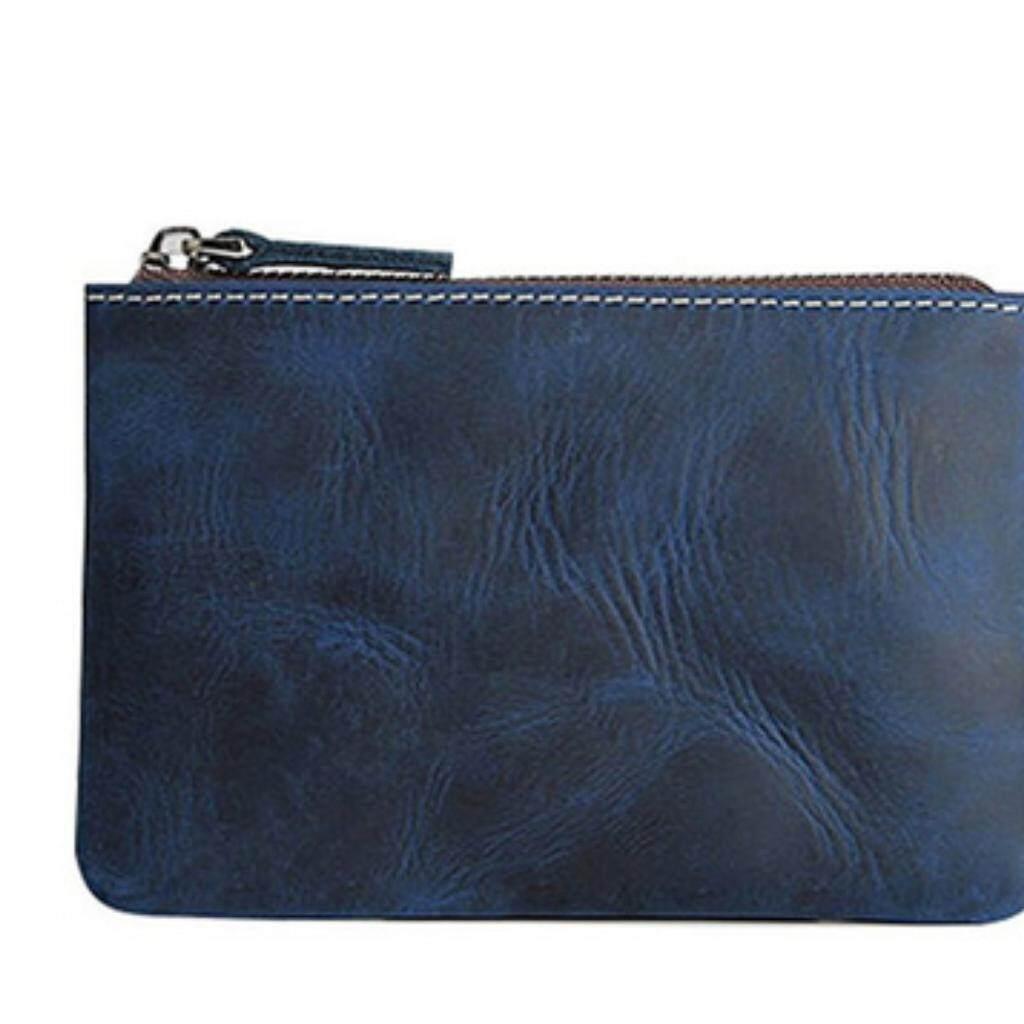 699f1196324e Coin Purse Pouch Fmeida Men's Leather Zipper Change Holder Slim Wallet