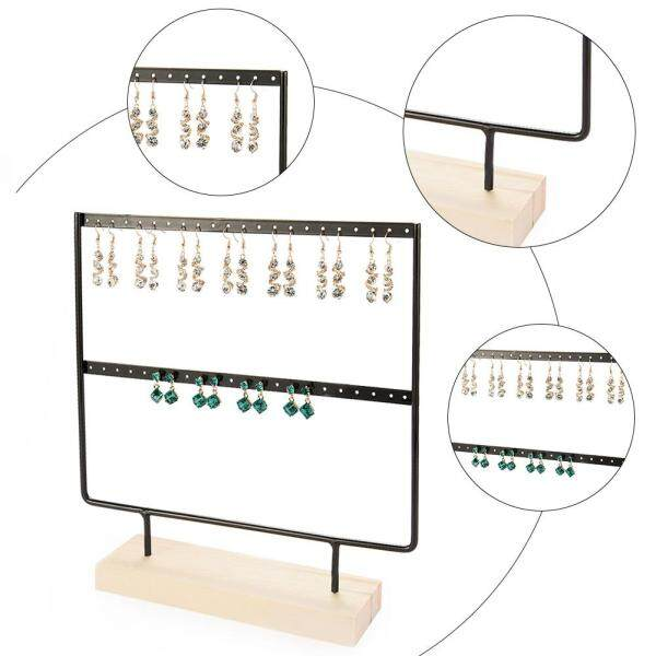 Home and Living Organizer Jewelry Holder Earring Stand for 22 pairs of Earrings Metal Earring Rack