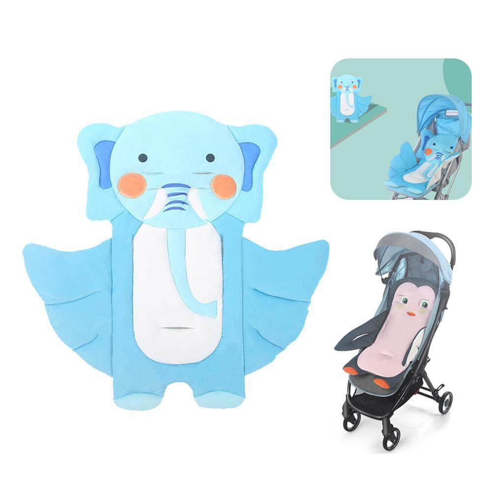 FlyUpward Universal Cute Cartoon Infant Car Seat Liner,100% Cotton Non-slip Baby Head Body Support Cushion Pillow Mat Pad Protector Pram Reducers for Pushchair Stroller Highchair