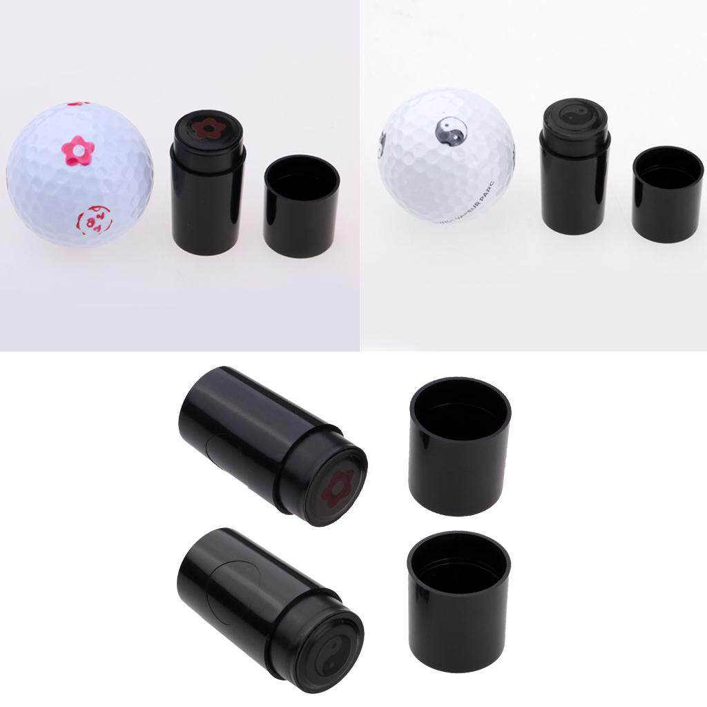 Miracle Shining 2pcs Golf Ball Stamper Stamp Marker Club Accessory Training Aids Keepsake By Miracle Shining.