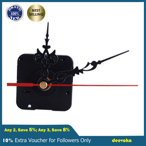 deevoka 1 Set Quartz Clock Movement Mechanism Replace Repair Parts Kits with 3 Hands Malaysia
