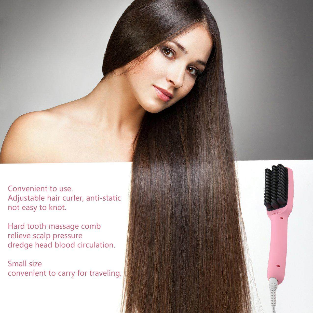 Crazy Sale Multifunctional Electric Hair Dryer Anion Hair Straighting Comb Hair Styling