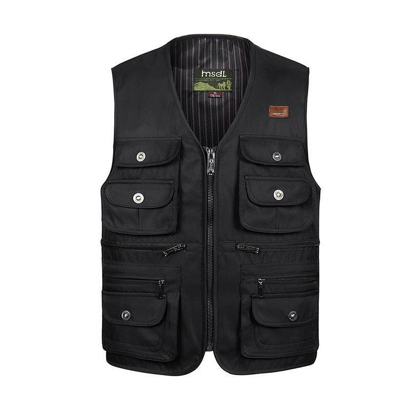 Autumn And Winter New Multi-Pocket Mens Vests Middle-Aged Fishing Vest Cotton By Wenzhou Tall Luggage Manufacturing Co Ltd.