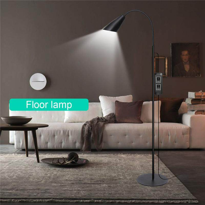 【Free Shipping + Flash Deal】Adjustable LED Floor Lamp Light Standing Reading Home Office Dimmable Desk Table