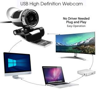 Máy Ảnh Độ Nét Cao USB, Micro Webcam Kẹp 360 Độ Đối Với Máy Tính PC Máy Tính Xách Tay Máy Tính Xách Tay, Dành Cho Skype Youtube thumbnail