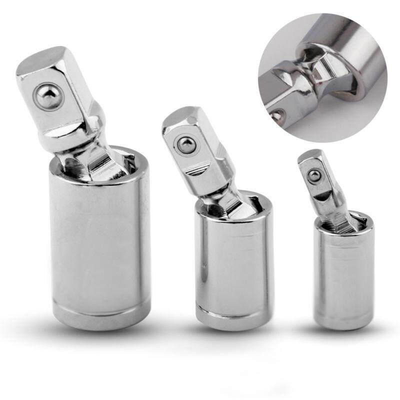 3x Ratchet Angle Extension Bar Sleeve Socket Adapter Swivel Universal Joint Tool
