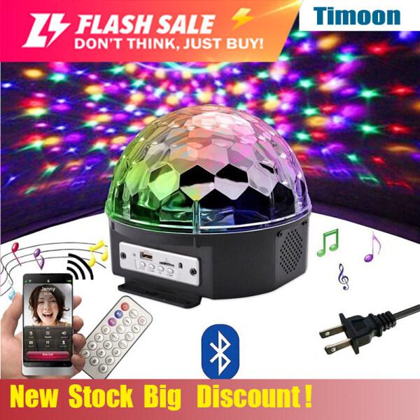 Loa Bluetooth LED 9 Màu Bóng Đèn Disco Với Máy Nghe Nhạc Mp3 Đèn Tiệc Laze Vũ Hội Đèn Sân Khấu DJ 18W Đèn Chiếu Laser