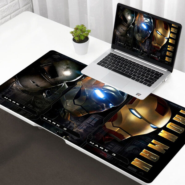 Vintage Cool COOL Iron Man Rubber PC Computer Gaming mousepad Free Shipping Large Mouse Pad Keyboards Mat Malaysia