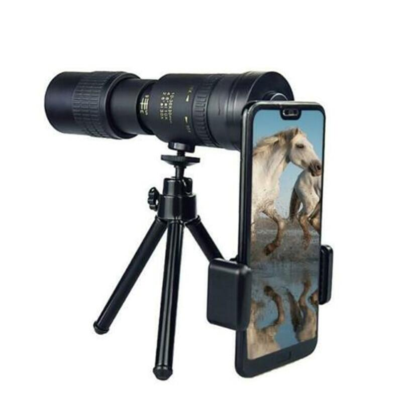 Kính Thiên Văn Một Mắt Zoom Siêu Tele 4K 10-300X40mm, Với Ống Kính Lăng Kính BAK4 Điện Thoại Máy Ảnh Dành Cho Du Lịch Bãi Biển Hoạt Động Ngoài Trời