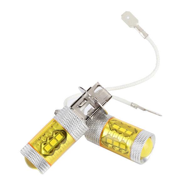 Bóng Đèn 12-24V Đèn LED Sương Mù Màu Vàng Cho Xe Hơi 16SMD, Đèn Đôi H3 80W