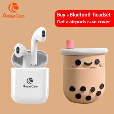 AmberCase Tai Nghe Bluetooth Mini I12 TWS Tai Nghe Không Dây Tai Nghe Điều Khiển Cảm Ứng Âm Thanh Nổi Bass Với Tai Nghe Mic Ốp Lưng Miễn Phí Cho iPhone Android Xiaomi PK I7s I9s Airpods