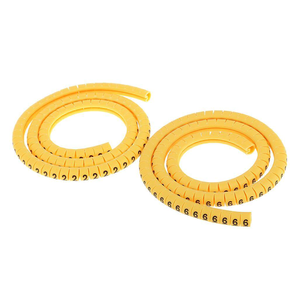 0~9 0.75mm² 1000x Yellow Cable Markers Marker Number Tag Label Number No