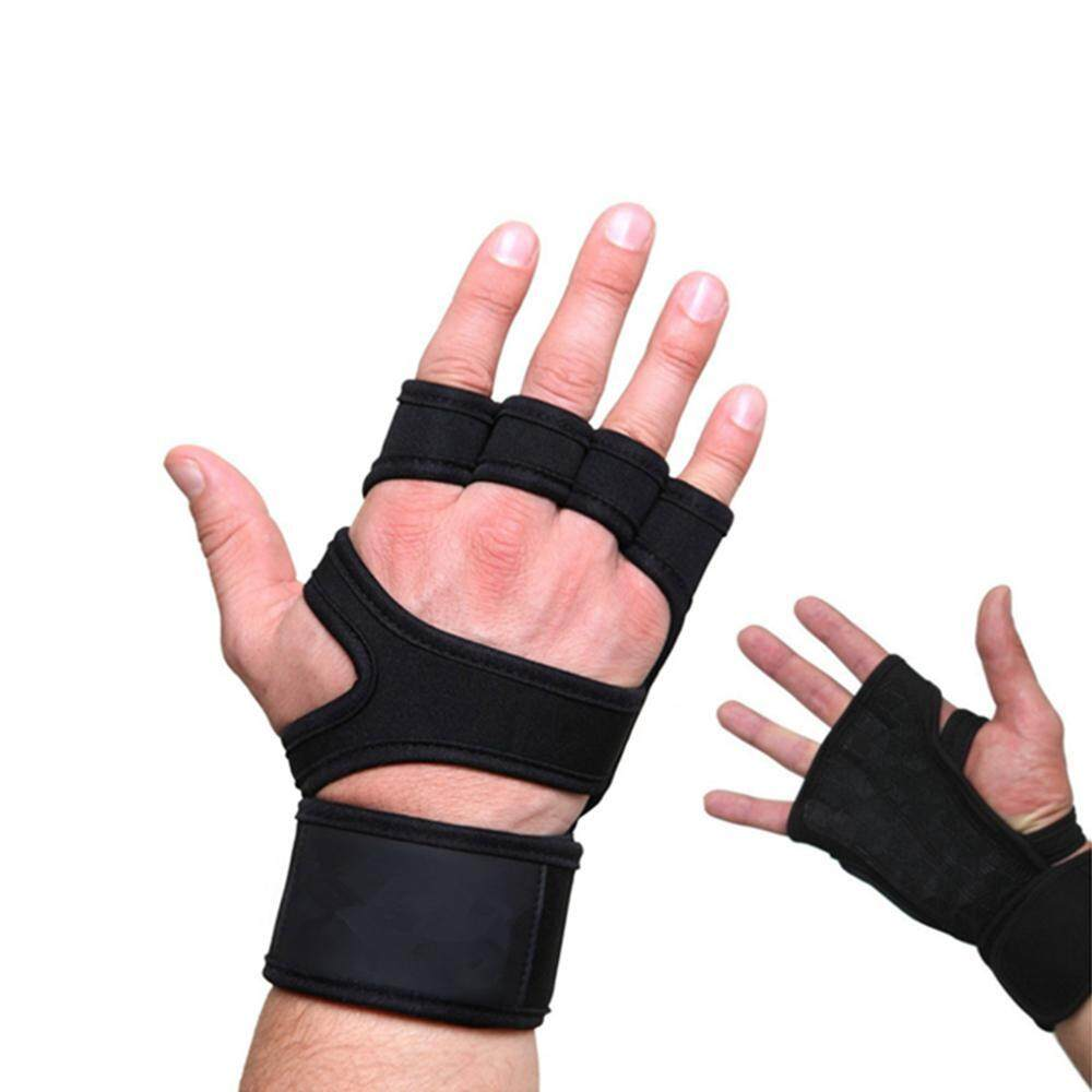 Goodscool Gym Gloves, Non-Slip Fingerless Weight Lifting Gloves With Wrist Support, Grip Fitness Gloves For For Pull Ups, Cross Training, Fitness, Weightlifting And Gymnastics By Goodscool.