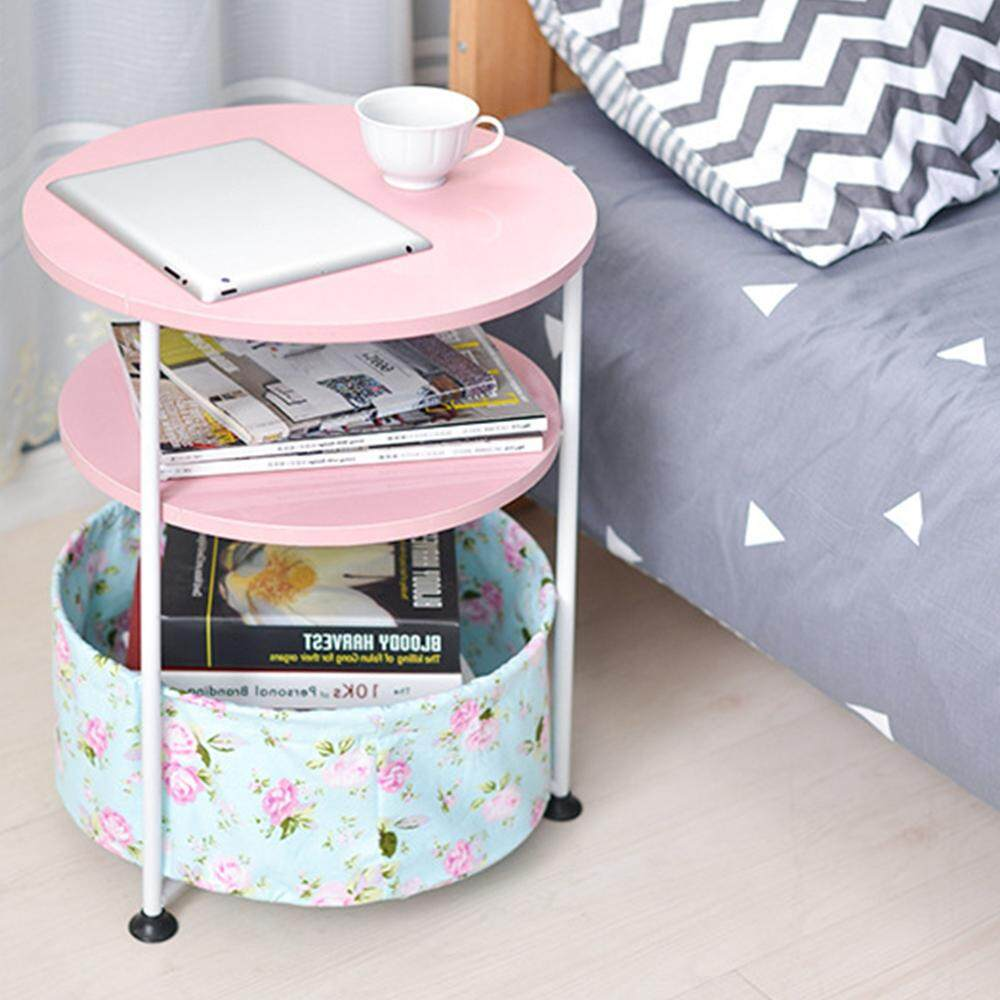 Household Movable Simple Round Sofa Side Table