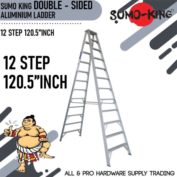 SUMO KING DOUBLE SIDED LADDER 12 STEP 120.5INCH