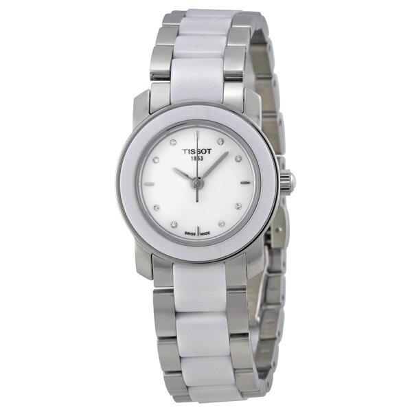 [Pre-Order]TISSOTT-Trend Cera White Ceramic Diamond Ladies Watch T064.210.22.016.00[15 Days] Malaysia