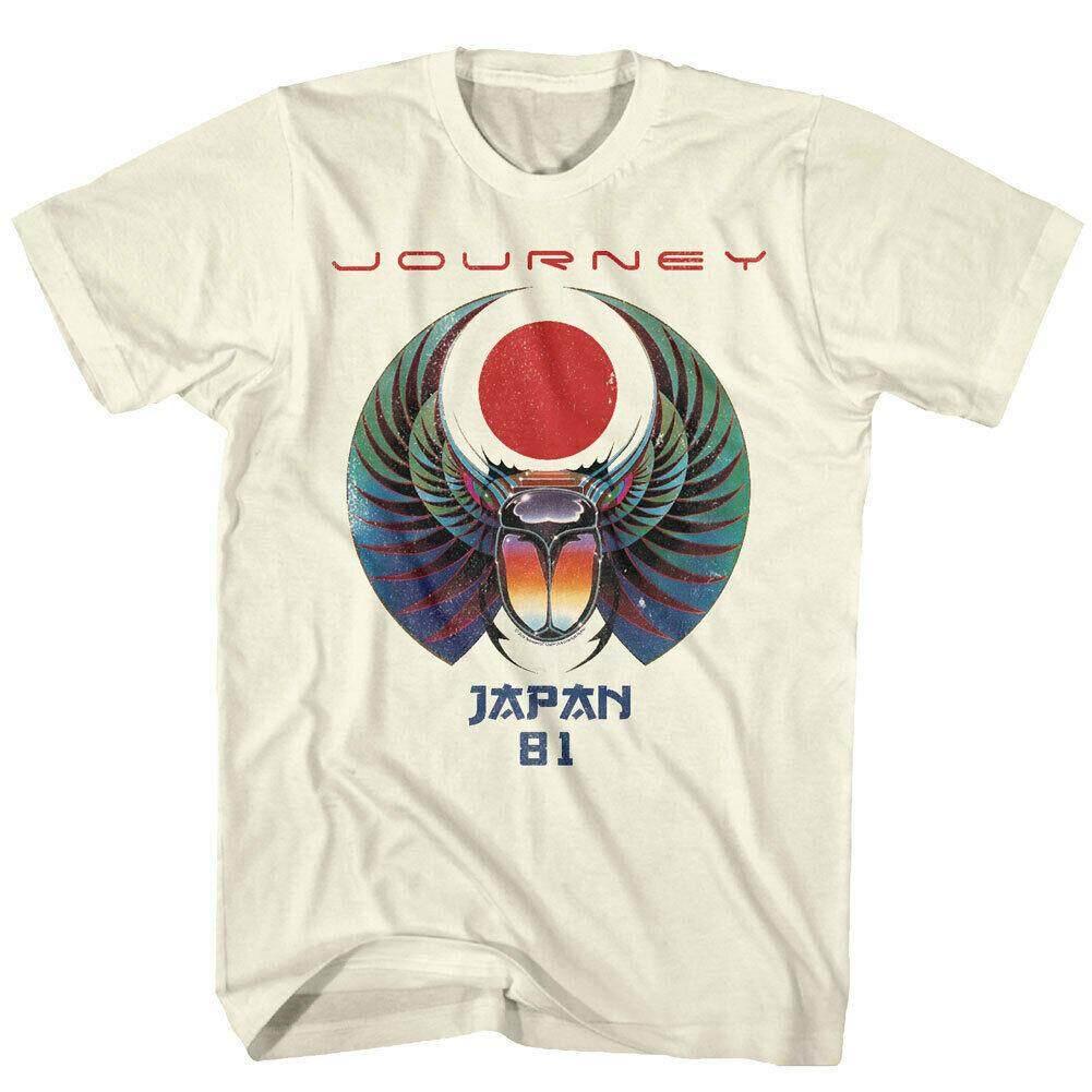 a5f700a15838 Journey Japan Captured Album Tour 1981 Men T Shirt Scarab Rock Band fashion  mens cotton tee