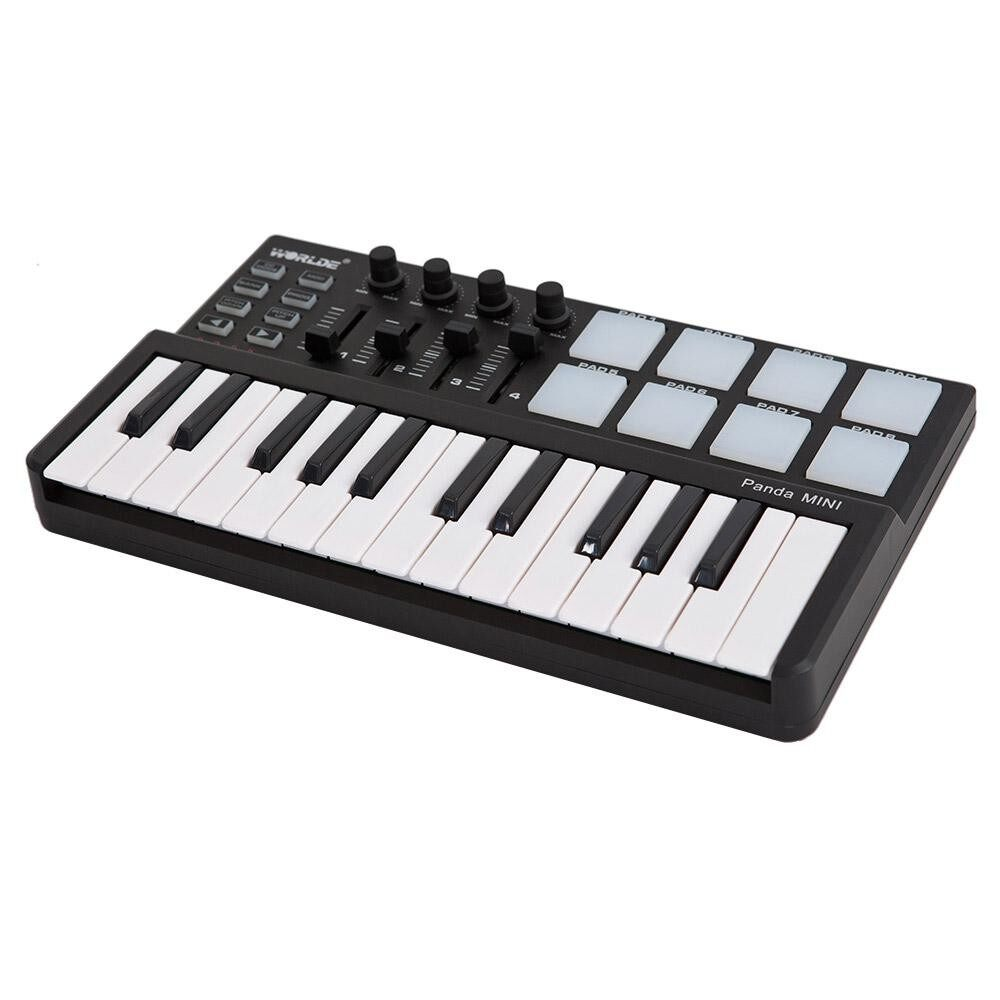 Voucher Ưu Đãi Worlde Panda Mini Portable Mini 25-Key USB Keyboard And Drum Pad MIDI Controller