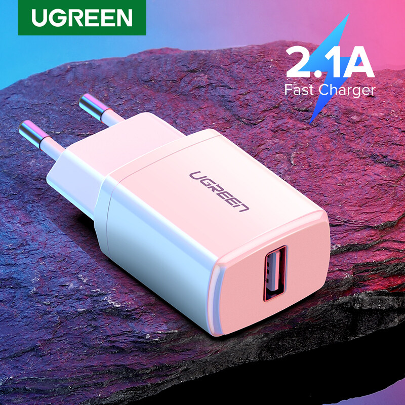 UGREEN Sạc USB Thông Dụng 10.5W, Bộ Chuyển Đổi Sạc Tường Du Lịch Màu Trắng Sạc Điện Thoại Di Động Thông Minh Dành Cho iPhone Samsung Xiaomi