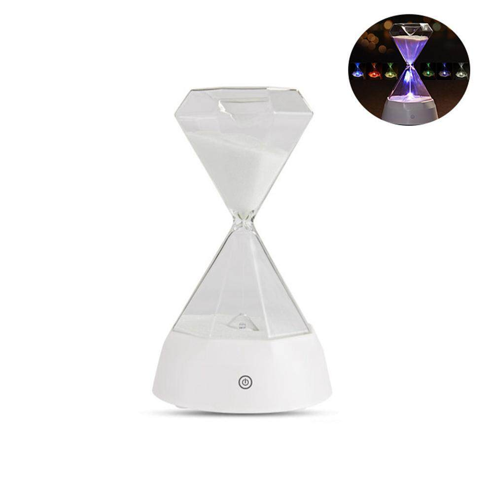 BuyInBulk Hourglass Music Light, Diamond Hourglass Music Light Colorful USB Charging Bed Sensor Table Lamp Fashion Gift Smart Atmosphere Sleeping Lights