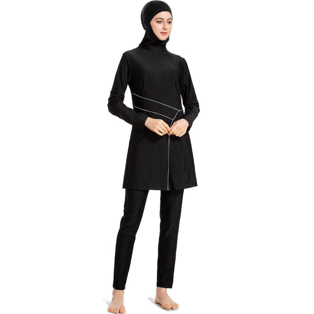 684f302787ed New Style Solid Color Muslim Swimsuit Conservative Bathing Suit Middle East  Women Sportswear Suit