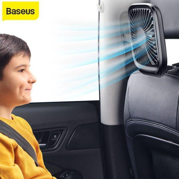 Baseus Car Fan Cooler Foldable Silent Fan For Car Back Seat Air Conditioning 3 Speed Adjustable Mini Usb Fan Desk Fan car Cooling