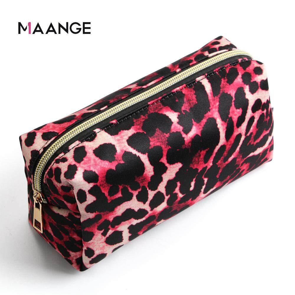 664aaecd57c2 MAANGE Makeup Storage Bag Leopard Women Travel Toiletry Make Up Organizer  Cosmetic Pouch Clutch Handbag Purses Brush Case