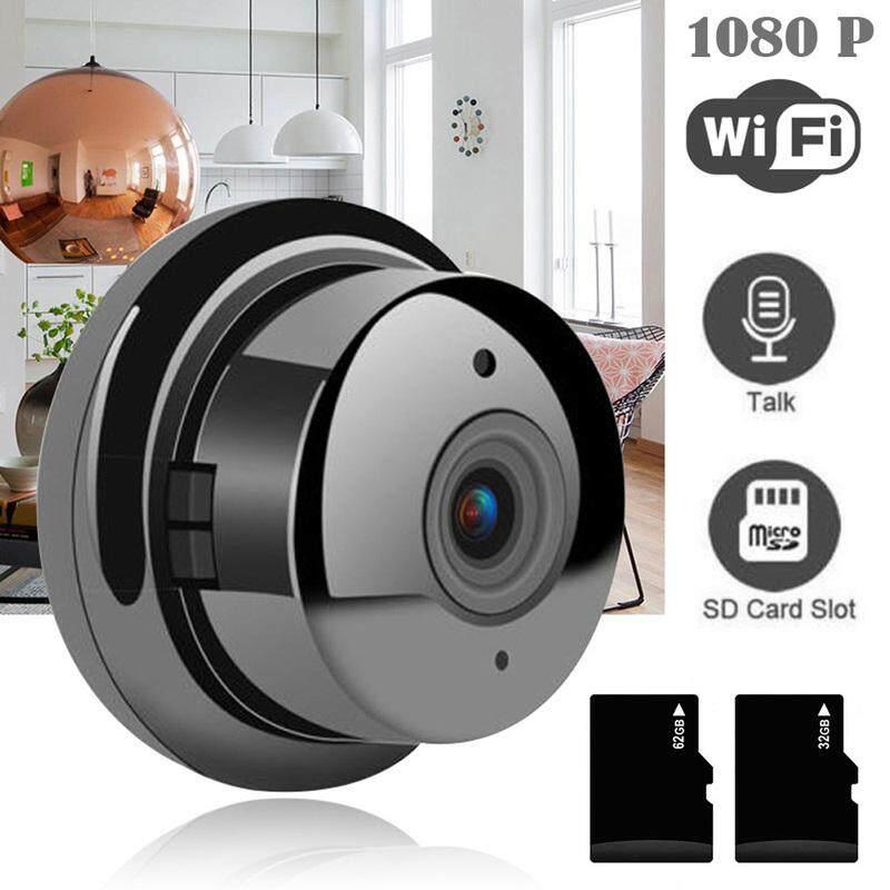 Camera An Ninh Ip 1080P Hd Không Dây Wifi V380 Nhìn Ban Đêm Hồng Ngoại Camera Quan Sát Ban Đêm Ir Cctv Mini Máy Ảnh, Đen