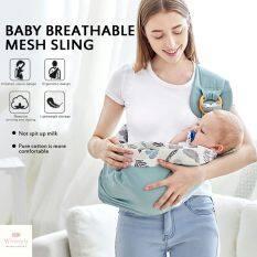 Khăn Quấn Đa Năng Wintryly Cho Trẻ Sơ Sinh, Khăn Quấn Chăm Sóc Em Bé Bằng Vải Lưới Lưới Đựng Sữa Mẹ Cho Con Bú 0-36 Tháng Tuổi