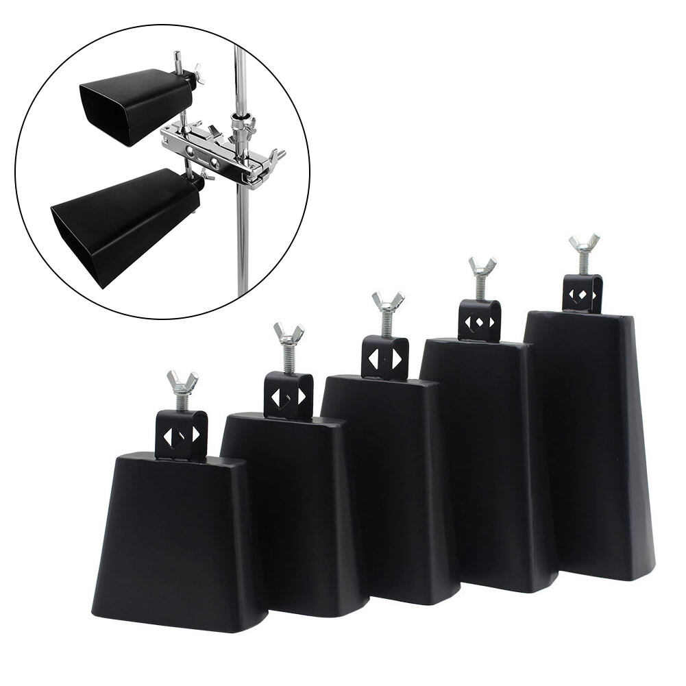 Musical Instrument Early Education Black Multi Size Gift Educational Home Accessories Metal Loud Jazz Drum Cowbell.