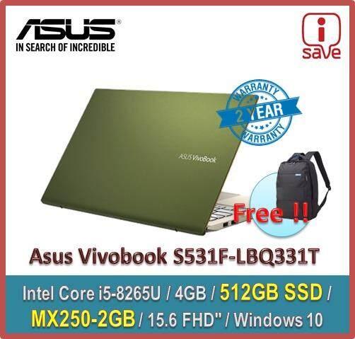ASUS Laptop Vivobook S15 S531F-LBQ331T 15.6 FHD Moss Green ( i5-8265U / 4GB / 512GB SSD / MX250-2GB ) Malaysia