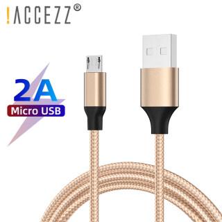 ACCEZZ Cáp Micro Bện Nylon Bộ Sạc USB Đồng Bộ Dữ Liệu 2A 1M 1.2M, Dây Microusb Android Dành Cho Samsung A10S Huawei Y6 Pro 2019 Vivo Y11 Oppo A5S A9 2020 Cáp Điện Thoại thumbnail