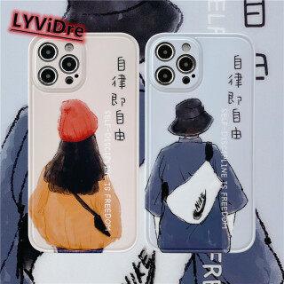 LYViDre Ốp Lưng Cặp Đôi Ốp Điện Thoại Vuông Mềm, Dành Cho Apple iPhone 12 Pro Max 11 Pro Max X XR XS Max 7 8 Plus SE 2020 12 Mini Silicone Điện Thoại Bìa thumbnail
