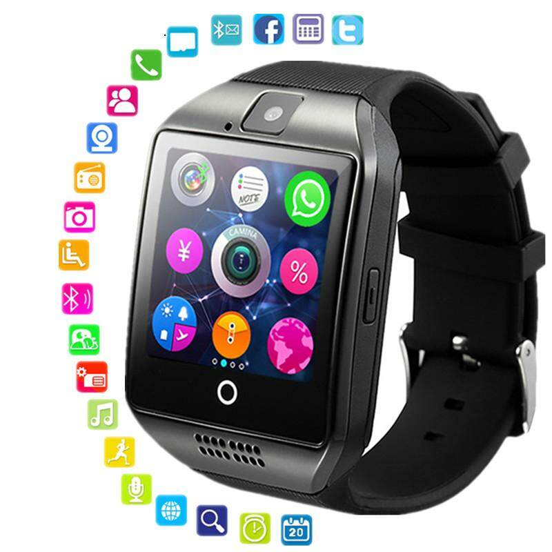 bf90b50bc China. Smart watch clock Q18 SmartWatch Support Sim TF Card Phone Call Push  Message Camera Bluetooth Connectivity