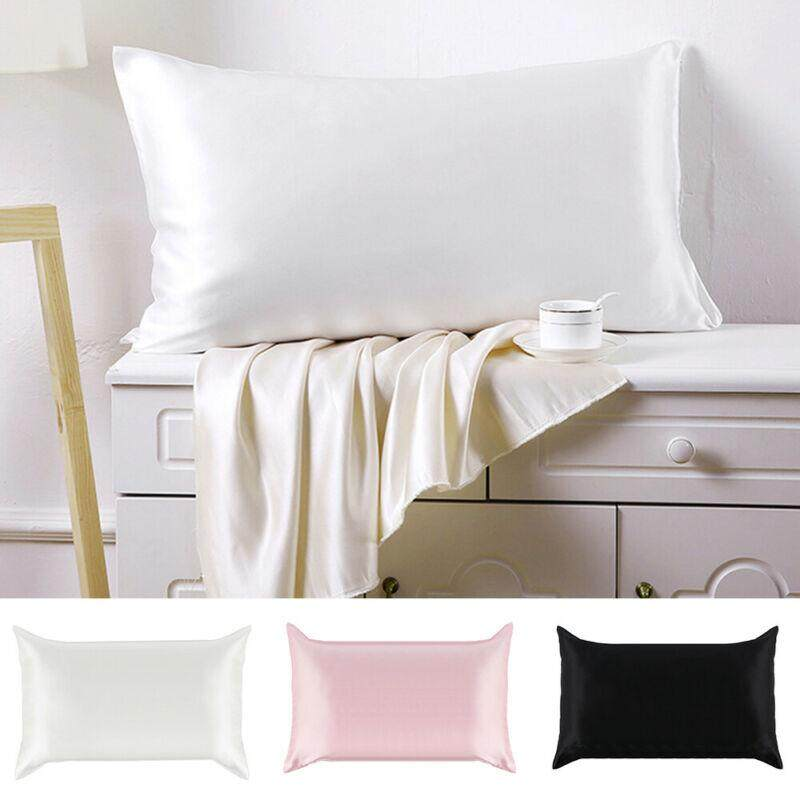 100% Pure Mulberry Silk anti-age Pillowcase,Luxurious 25 Momme 3 colors Queen