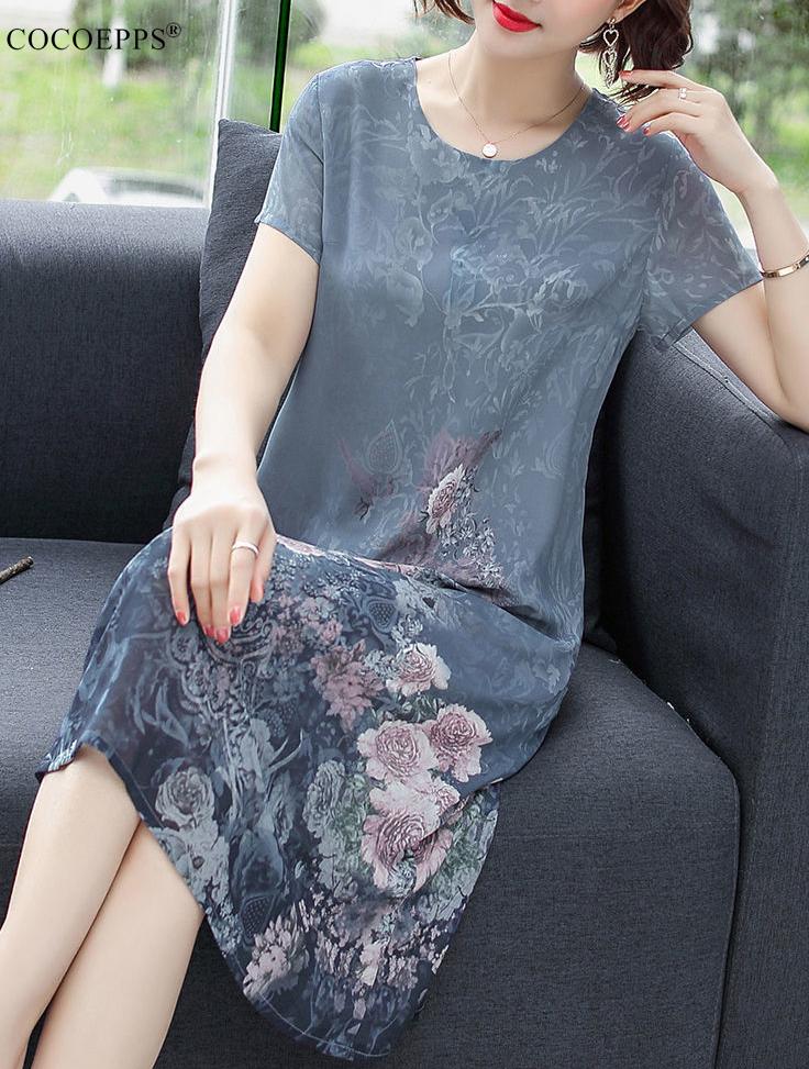 Đầm Nữ COCOEPPS AA, Tay Ngắn, Dáng Ngắn Thanh Lịch, Mặc Mùa Hè Quý Phái, Thời Trang 2020