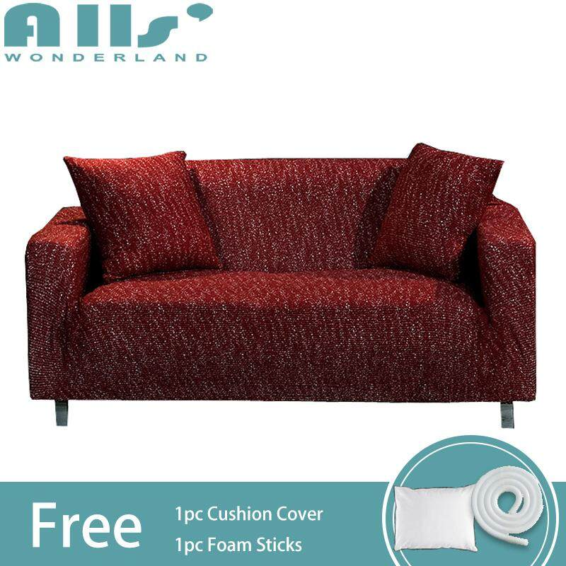 【sofa cover】Knitted Fabric 3-Seater Universal Stretch Sofa Cover/Slipcover Dust-proof/Non-slip Corner Sofa Cover(Length Range for 190-230cm/74.8-90.6)