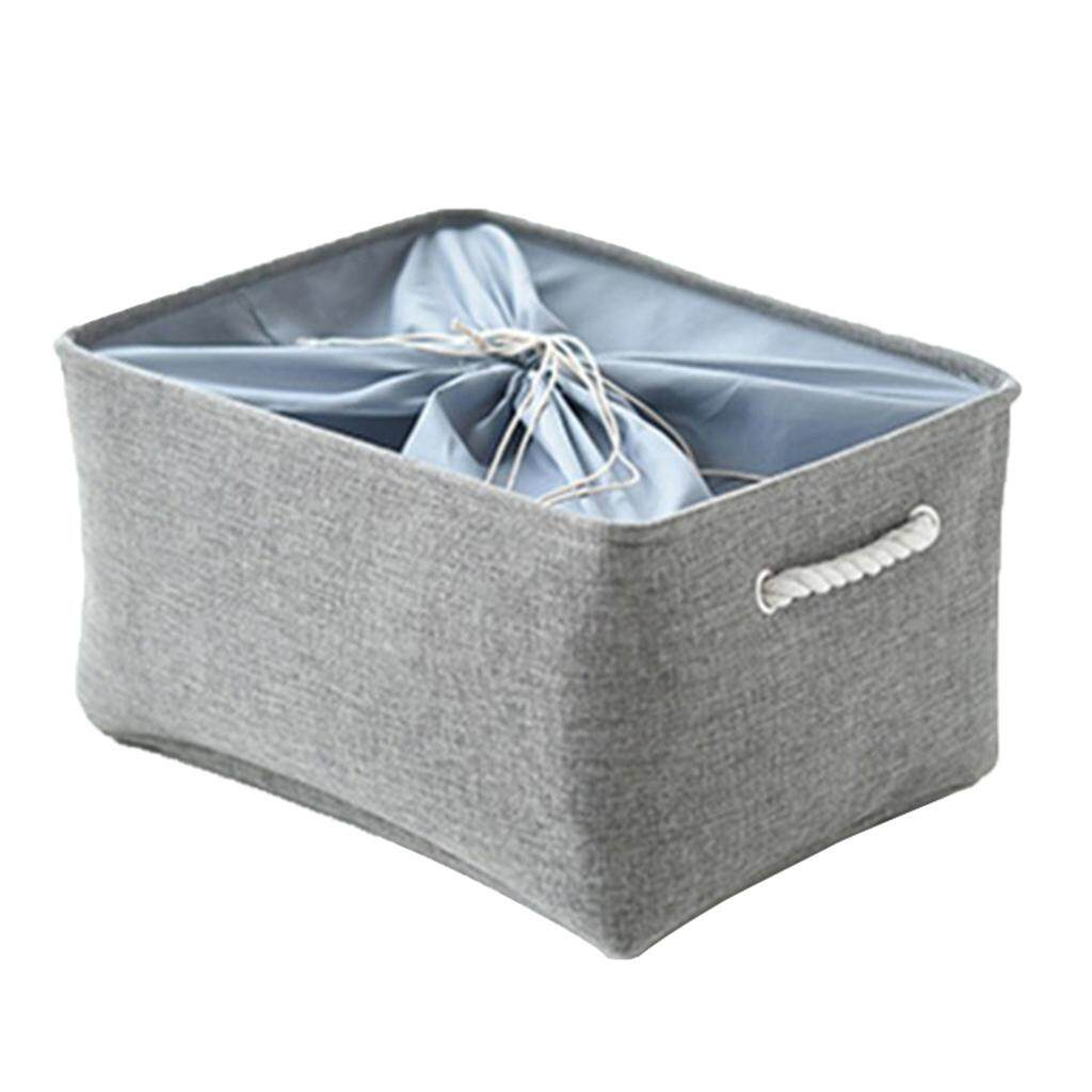 Perfk 2Pcs Cubby Storage Basket Organizer Bin with Drawstring Storage Bin