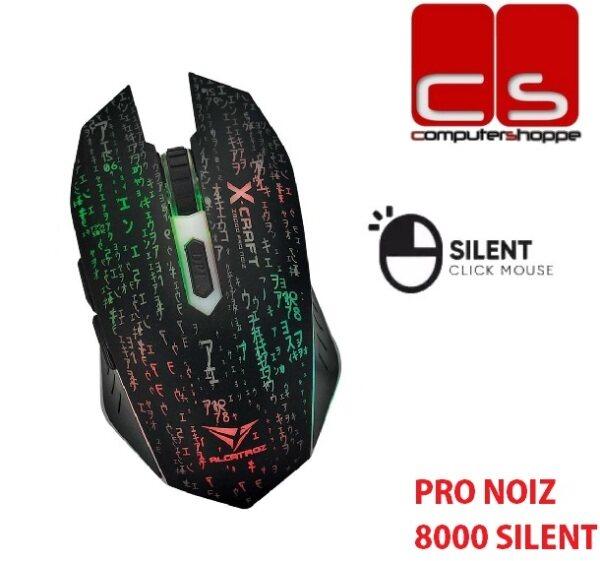 Alcatroz X-Craft Pro Noiz 8000 Silent Key Gaming Mouse Free Mousemat Malaysia