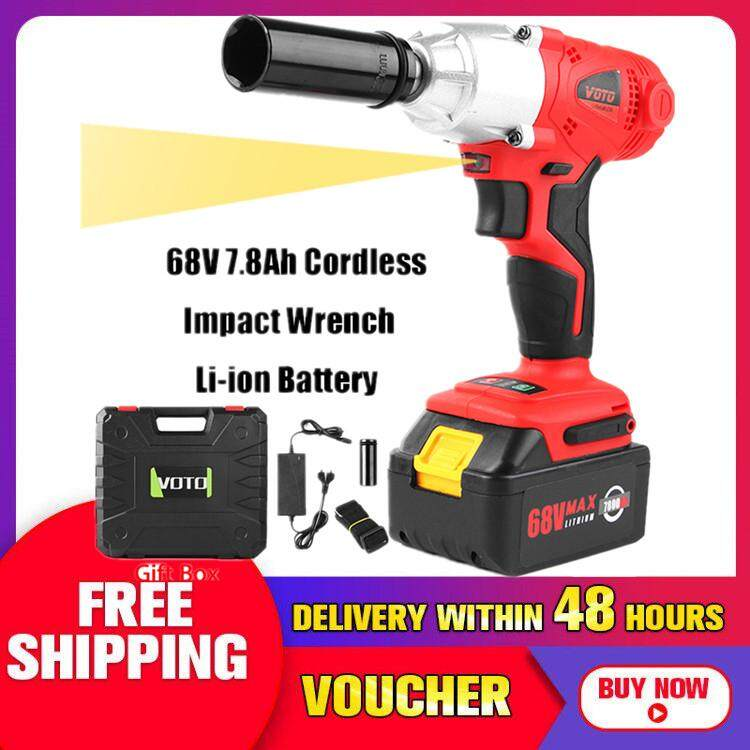 【Free Shipping + Flash Deal】68V 7.8Ah Cordless Impact Wrench Li-ion Battery High Torque Charger Power Tool