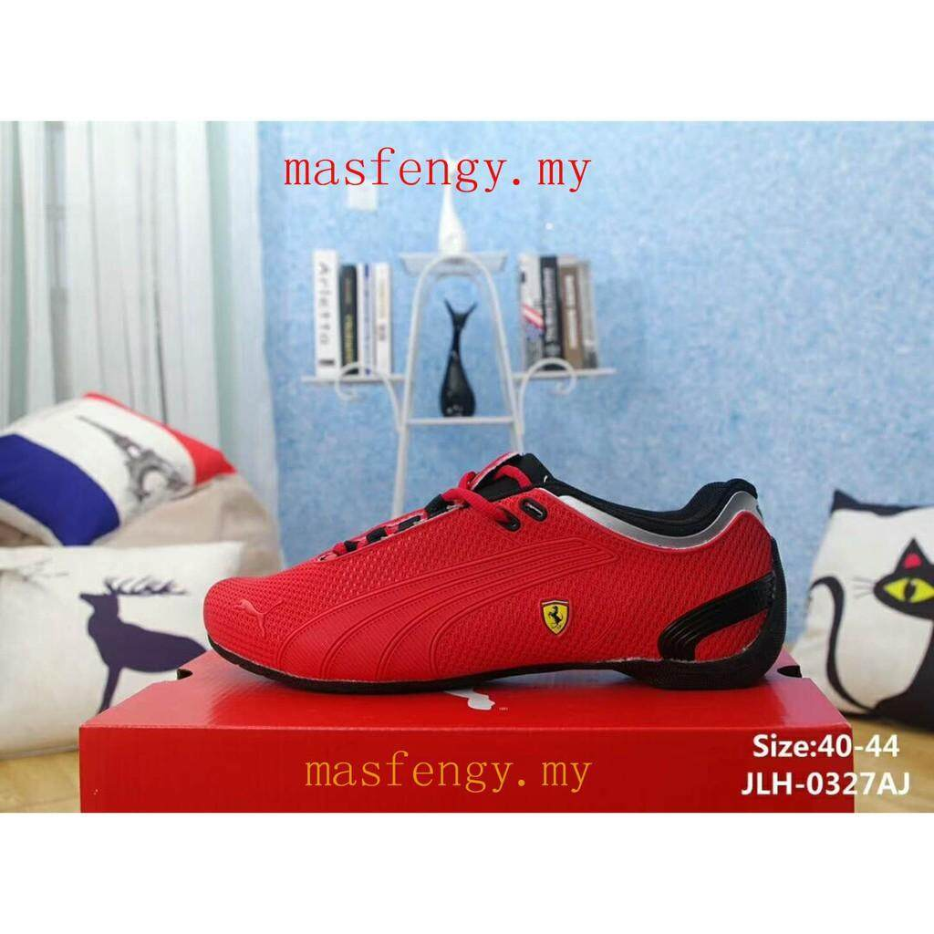 SLK ★ Racing Red PUMA FERRARI shoes mans running sneakers JJH-0327AJ  rubber patch